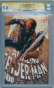Amazing Spider-man #600 Quesada Retail Variant CGC 9.8 Signature Series Signed Joe Quesada Dan Slott Klaus Janson Marvel comic book